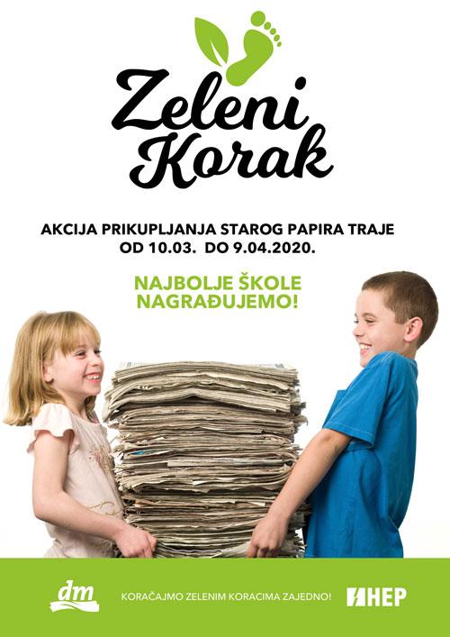 Poziv skolama na ukljucenje u akciju zeleni korak 2020